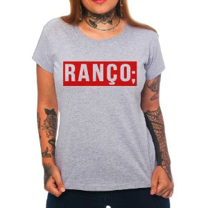 Camiseta Feminina Ranço - Cinza - P