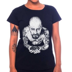 Camiseta Feminina Heisenberg Tattoo - Preta - P