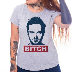 Camiseta Feminina Jesse Pinkman - Cinza - G