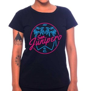 Camiseta Feminina San Junipero - Preto - GG
