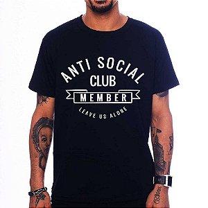 Camiseta Anti Social Club - Preta - P