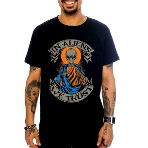 Camiseta In Aliens - Preta - M