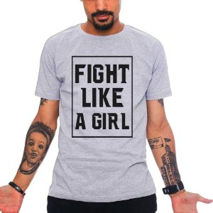 Camiseta Fight Light a Girl - Cinza - GG
