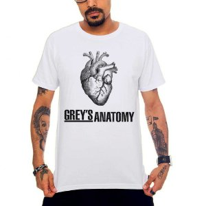 Camiseta Grey's Anatomy - Branco - G