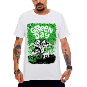 Camiseta Green Day Dog - Branco - G