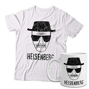 Kit Camiseta Breaking Bad Heisenberg + Caneca Heisenberg