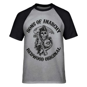 Raglan - Sons of Anarchy - Redwood - Cinza - P