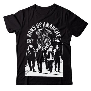Camiseta - Sons of Anarchy - Crew - Preta - GG