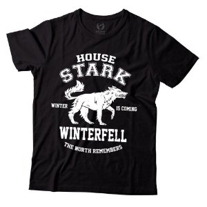 Camiseta - Game of Thrones - House Stark Winterfell - Preta - GG