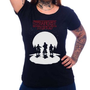 Camiseta Feminina - Stranger Things - Preta - M