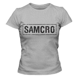 Camiseta Feminina -Samcro - Cinza - G