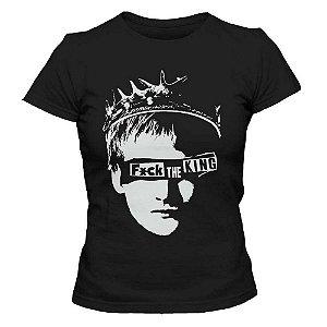 Camiseta Feminina - FCK King - Preta - G