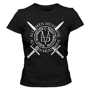 Camiseta Feminina - Valar Morghulis - Preta - G