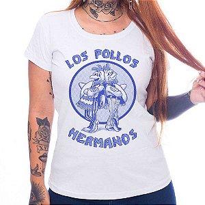 Camiseta Feminina Pollos Hermanos - Branca - P