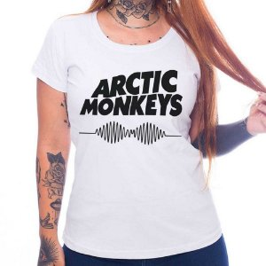 Camiseta Feminina - Arctic Monkeys - Branca - P