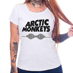 Camiseta Feminina - Arctic Monkeys - Branca - M