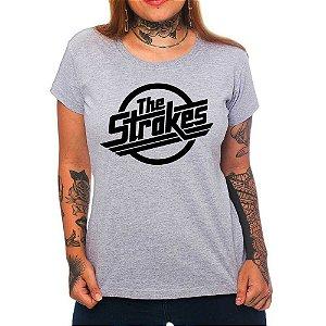 Camiseta Feminina - The Strokes - Cinza - M