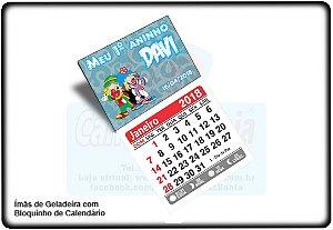 Imã Geladeira Personalizado c/ Calendário 2018 - 14pçs