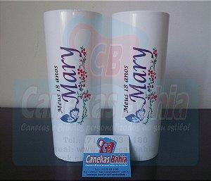 25 Copos Long drink acrílico Personalizado 350ml