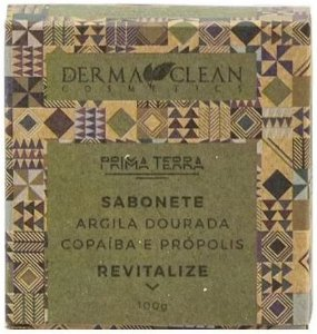 Derma Clean Prima Terra Sabonete Argila Dourada com Copaíba e Própolis - Revitalize 100g