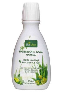 Livealoe Higienizante Bucal Natural Sem Flúor 250ml