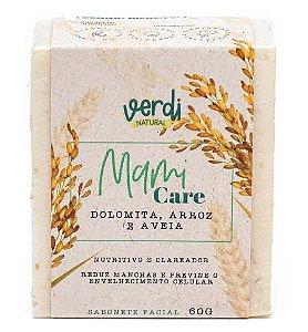 Verdi Natural Sabonete Facial Nutritivo e Clareador Dolomita, Arroz e Aveia Mami Care 60g