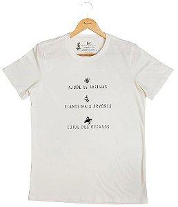 Agora Sou ECO Camiseta 100% Algodão Orgânico - Ajude As Abelhas - Off White 1un