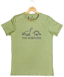 Agora Sou ECO Camiseta 100% Algodão Orgânico - Herbívoros - Verde 1un