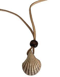 Colar Aromatizador Pessoal de Cerâmica Concha 1un