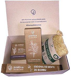Positiv.a Kit Higiene e Autocuidado c/ 4 itens + Caixa para Presente Tamanho P