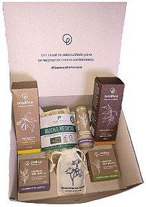 Positiv.a Kit Higiene e Autocuidado c/ 7 itens + Caixa para Presente Tamanho M