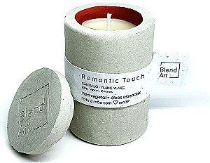 Blend Art Vela Vegetal Romantic Touch - Sândalo e Ylang Ylang 80g