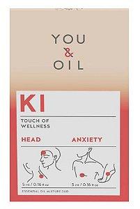 You & Oil KI Kit Ansiedade + Dor de Cabeça - Blend Bioativo de Óleos Essenciais