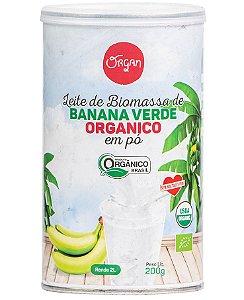 Organ Leite de Biomassa de Banana Verde em Pó Orgânico 200g