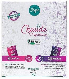 Chaúde Chá Misto Duo (Dia e Noite) Orgânico Caixa 60 Sachês