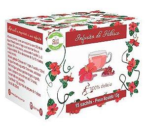 QLY Ervas Chá de Hibisco Caixa 15 Sachês