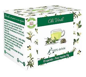 QLY Ervas Chá Verde Caixa 15 Sachês