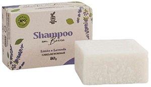 Agora Sou ECO Shampoo em Barra Limão e Lavanda - Cabelos Normais 80g