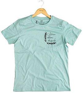 Agora Sou ECO Camiseta 100% Algodão Orgânico - Alecrim - Azul 1un