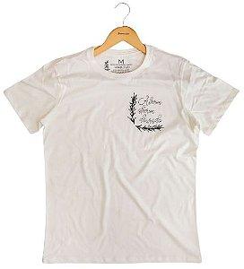 Agora Sou ECO Camiseta 100% Algodão Orgânico - Alecrim - Off White 1un