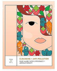 You & Oil Máscara Facial Limpeza e Antipoluição 1un