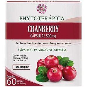 Phytoterápica Cranberry (500mg) - 60 Cápsulas Veganas