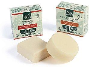 Boni Natural Kit Capilar Hidratação e Brilho - Shampoo Sólido + Condicionador em Barra