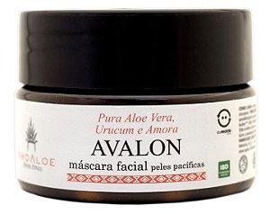 AhoAloe Máscara Facial Avalon com Aloe Vera, Urucum e Amora 80g