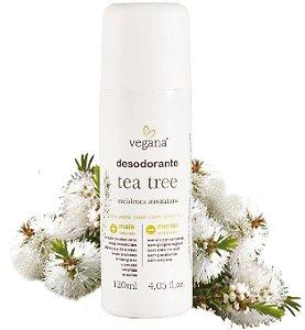 WNF Vegana Desodorante Natural Tea Tree, Alecrim, Lavanda e Lemongrass 120ml