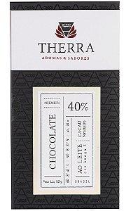 Therra Chocolate Gourmet 40% Sabor Ao Leite com Ômega 3 80g