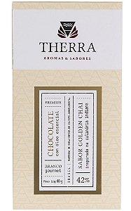 Therra Chocolate Branco Gourmet 42% Sabor Golden Chai 80g