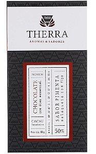 Therra Chocolate Gourmet 50% Sabor Pimenta Malagueta com Figo 80g