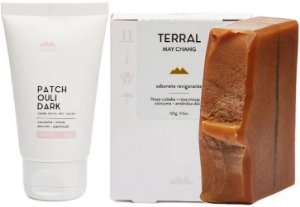 Terral Natural Kit Pele Seca - Creme Facial Patchouli Dark + Sabonete May Chang e Rosa Mosqueta