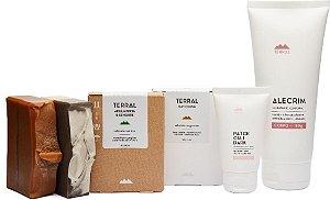 Terral Natural Kit Pele Seca - Creme Corporal Alecrim + Creme Facial Patchouli + Sabonetes de Argila Preta e de May Chang